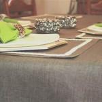 Çuval Kumaşından Masa Örtüleri